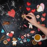 Maths, coeurs, formule de l'amour Images libres de droits