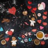 Maths, coeurs, formule de l'amour Image libre de droits