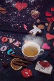 Maths, coeurs, formule de l'amour Photos stock