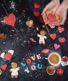 Maths, coeurs, formule de l'amour Photos libres de droits