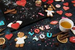Maths, coeurs, formule de l'amour Photo libre de droits