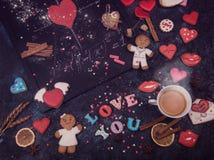 Maths, coeurs, formule de l'amour Photo stock