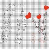 Maths et amour Photographie stock