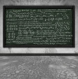 Maths formula on chalkboard Royalty Free Stock Image