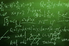 Maths formulas on chalkboard background Royalty Free Stock Photography