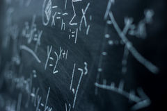 Maths formulas on chalkboard background Royalty Free Stock Photos