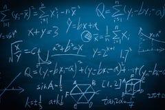 Maths formuły na chalkboard tle Obraz Stock