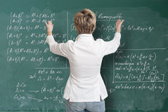 Maths lekcja, żeński nauczyciel Zdjęcie Stock