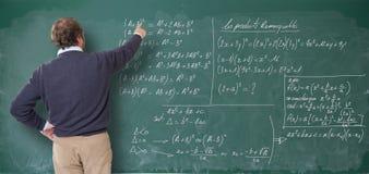 Maths lekcje, męski nauczyciel Fotografia Royalty Free