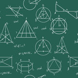 maths mönsan seamless royaltyfri illustrationer