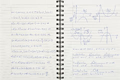 Maths notebook Royalty Free Stock Photo