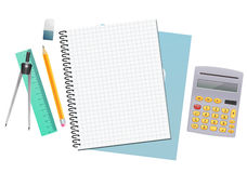 Maths notebook sheet paper Royalty Free Stock Photography