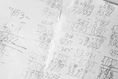 Maths notes Royalty Free Stock Photography
