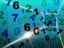 Maths Numbers Represents High Tech And College Stock Image