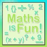 Maths Są zabawa turkusu zielenią Zdjęcia Royalty Free