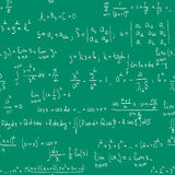 Maths seamless blackboard Stock Images