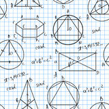 Maths seamless pattern Stock Images