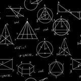 Maths seamless pattern royalty free illustration