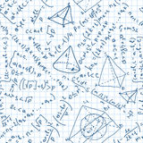 Maths seamless pattern. Stock Photo