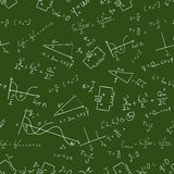 Maths seamless pattern Vector 2 Royalty Free Stock Photo