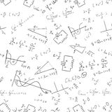 Maths seamless pattern Vector 1 Royalty Free Stock Image
