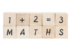 Free Maths Sum With Wooden Blocks. Stock Photos - 29340843