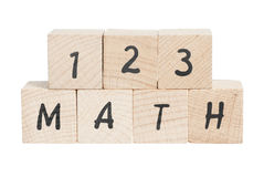 Maths Sum With Wooden Blocks. Stock Images