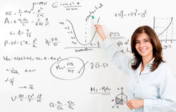 Maths teacher Royalty Free Stock Photos