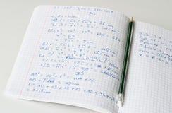Maths zeszytowi Obraz Royalty Free