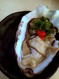 Matière à réflexion - huître fraîche photographie stock