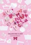 Matière de base de jour du ` s de Valentine Images stock
