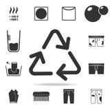 matière première réutilisant l'icône de signe Ensemble détaillé d'icônes de blanchisserie Conception graphique de qualité de la m Photo stock