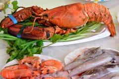 Matières premières de fruits de mer Photos stock