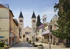 Matije Gupca street in Caplina. Bosnia and Herzegovina.  royalty free stock photos