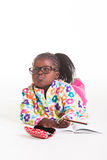 Matilda with reading glasses. Stock Photo