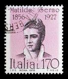 Matilde Serao, διάσημοι Ιταλοί serie, circa 1978 Στοκ εικόνες με δικαίωμα ελεύθερης χρήσης