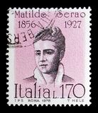 Matilde Serao, serie famoso dos italianos, cerca de 1978 Imagens de Stock Royalty Free