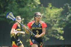 Matilde Van Bokkelen - lacrosse Arkivbild