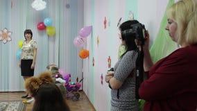 Matinée dedicado al día internacional del ` s de las mujeres, una guardería metrajes