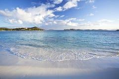 Matin à une plage dans les Caraïbe Photo libre de droits