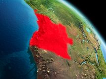 Matin au-dessus de l'Angola sur terre illustration stock