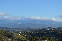 Matin au-dessus des montagnes et de la vallée de San Gabrial Images stock