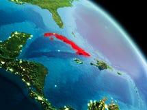 Matin au-dessus du Cuba sur terre Images stock