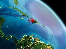 Matin au-dessus du Haïti sur terre Photos stock