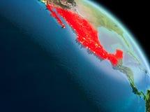 Matin au-dessus du Mexique sur terre Photos libres de droits