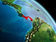 Matin au-dessus du Panama sur terre Images libres de droits