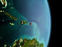 Matin au-dessus du Porto Rico sur terre Photographie stock