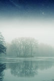 Matin brumeux de l'hiver Photos stock