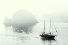matin brumeux de marmaris image stock