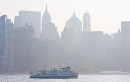 Matin brumeux sur le Hudson Photos libres de droits